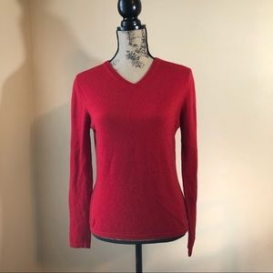 Pure Cashmere Red Sweater Small SOFT!!